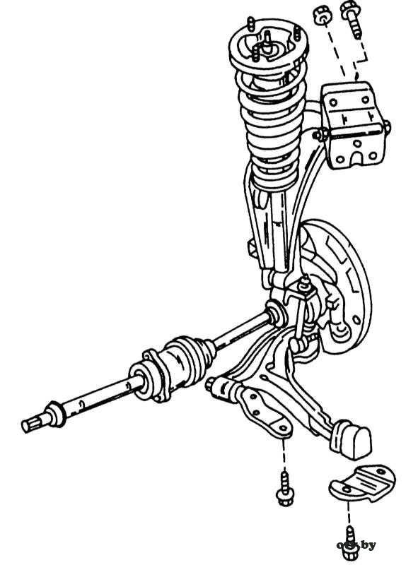 Вид передней подвески с одной