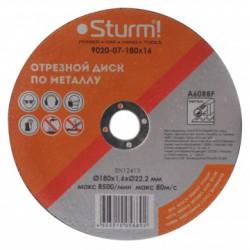 9020-07-180x16 Диск отрезной по металлу, размер 180x1.6x22.23 Sturm